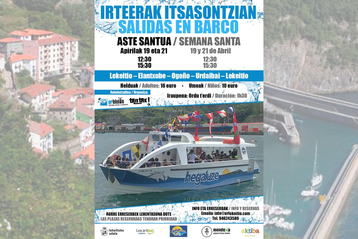 Ruta en barco Semana Santa Lekeitio